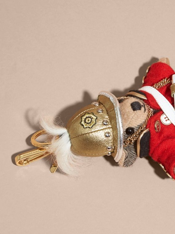 The Regimental Thomas Bear Charm in Camel | Burberry - cell image 2