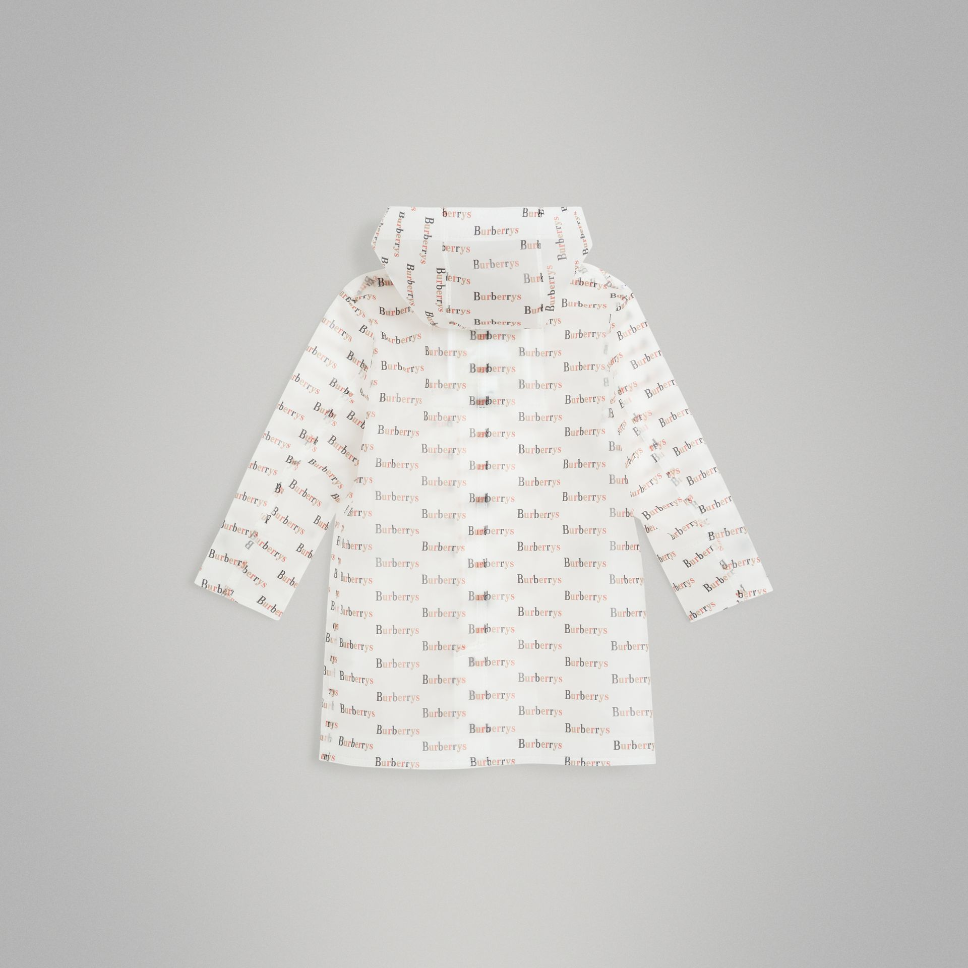 Archive Logo Print Trench Coat in Multicolour - Children | Burberry United States - gallery image 3