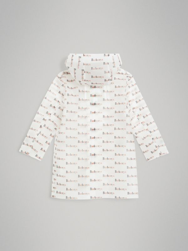 Archive Logo Print Trench Coat in Multicolour - Children | Burberry - cell image 3