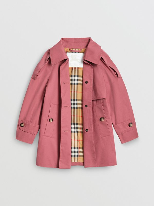 Showerproof Cotton Reconstructed Trench Coat in Rose Pink | Burberry - cell image 3