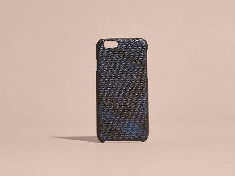 Custodia per iPhone 7 con motivo London check (Navy/nero) | Burberry - cell image 4