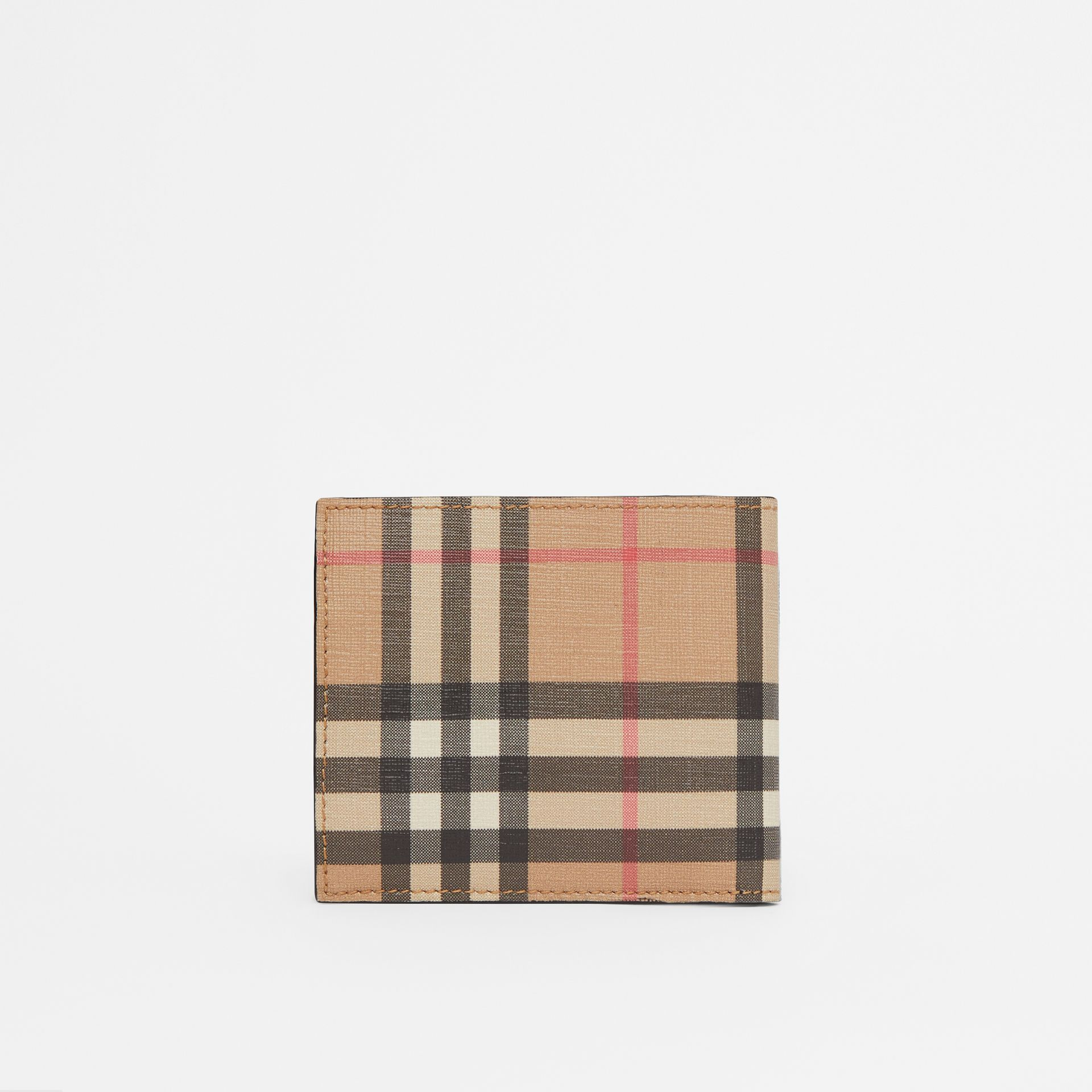 Vintage Check International Bifold Coin Wallet in Archive Beige - Men | Burberry - gallery image 4