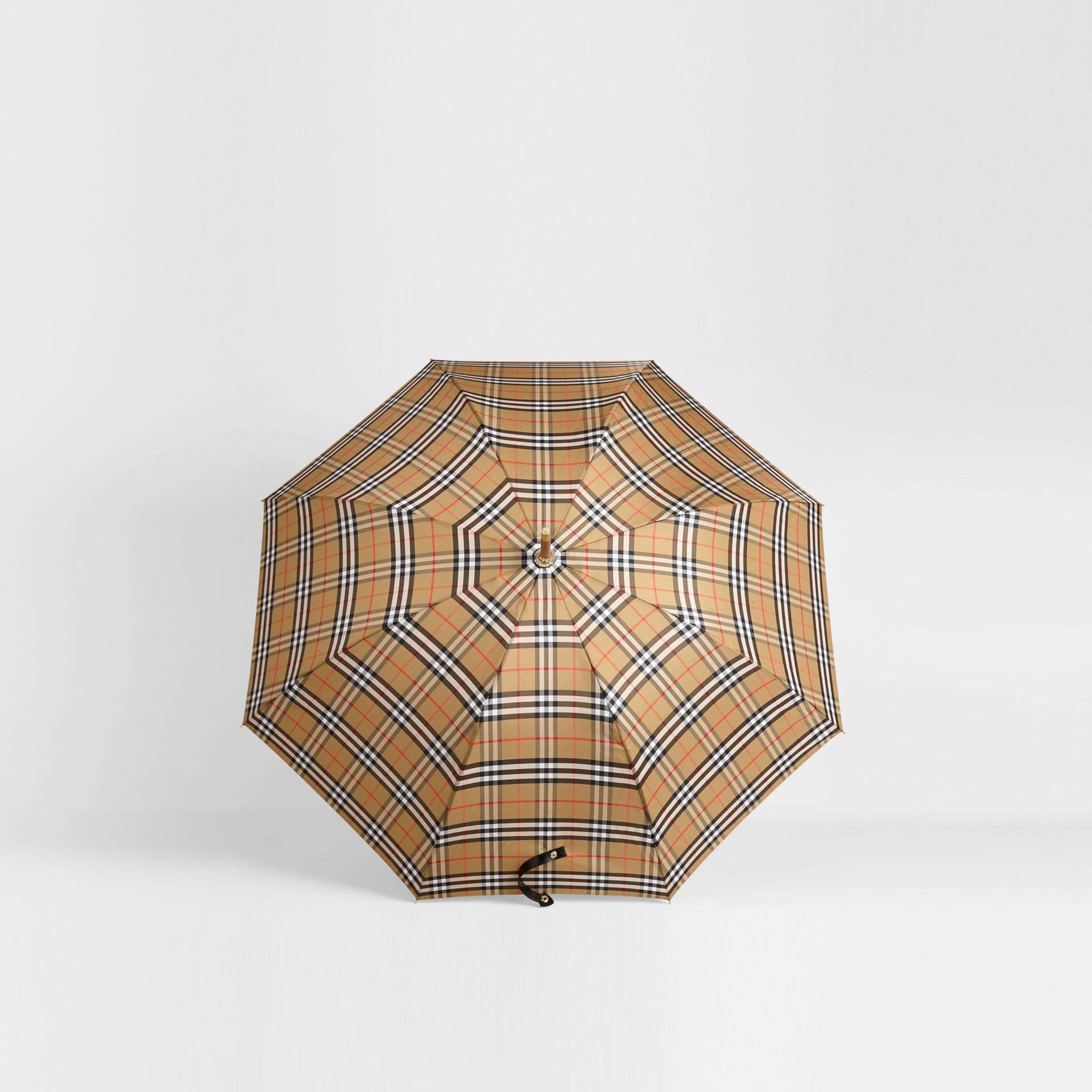 Vintage Check Walking Umbrella in Antique Yellow | Burberry Singapore - gallery image 2