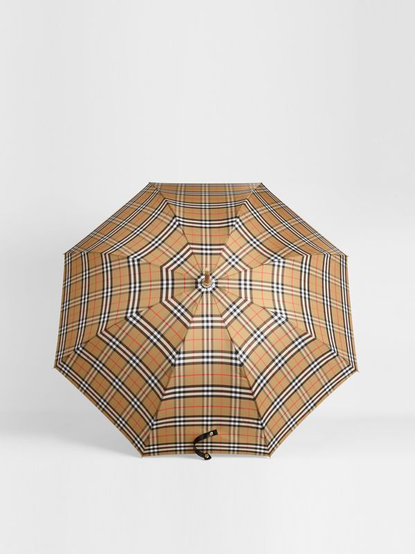 Vintage Check Walking Umbrella in Antique Yellow | Burberry Singapore - cell image 2