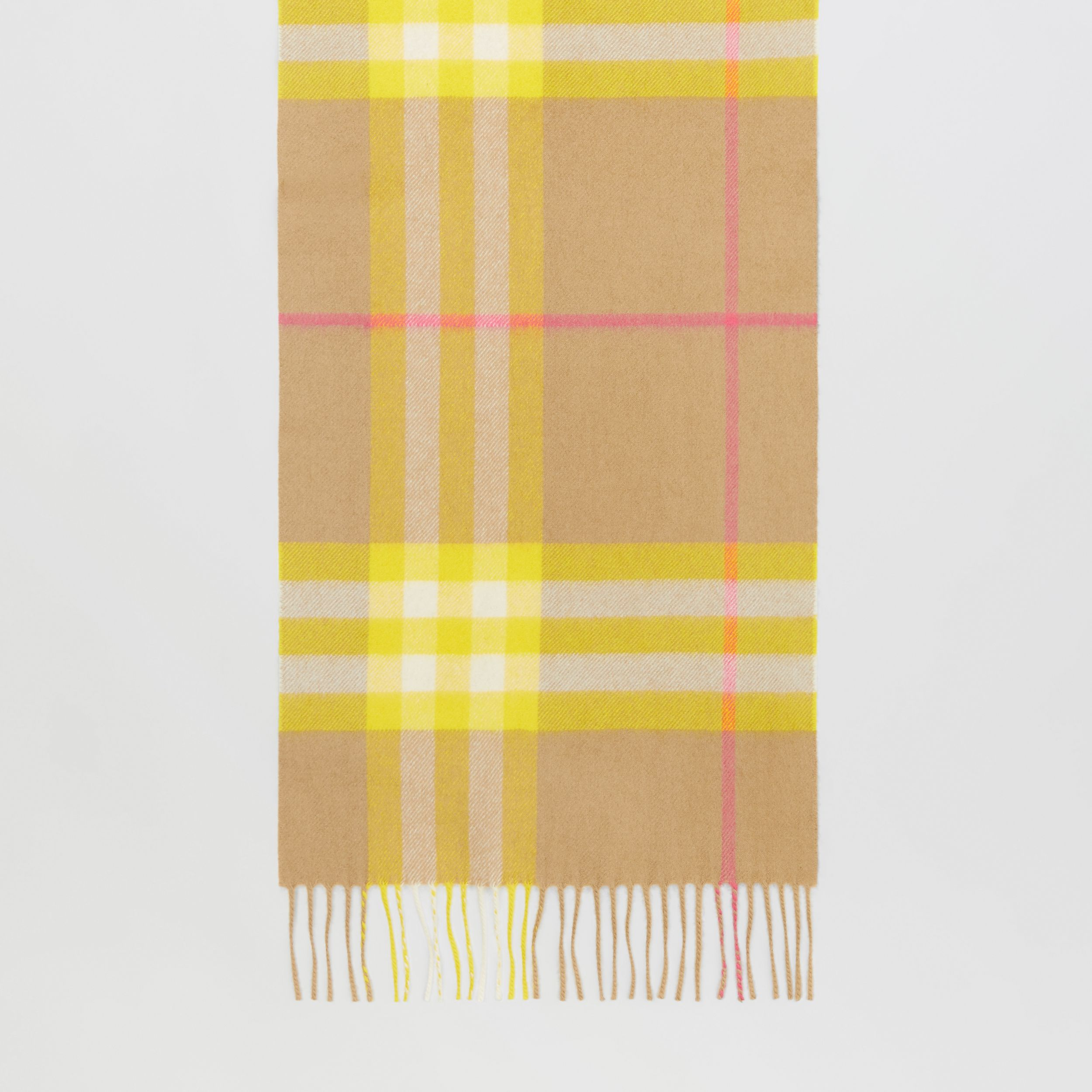 The Classic Check Cashmere Scarf in Archive Beige/yellow | Burberry - 4