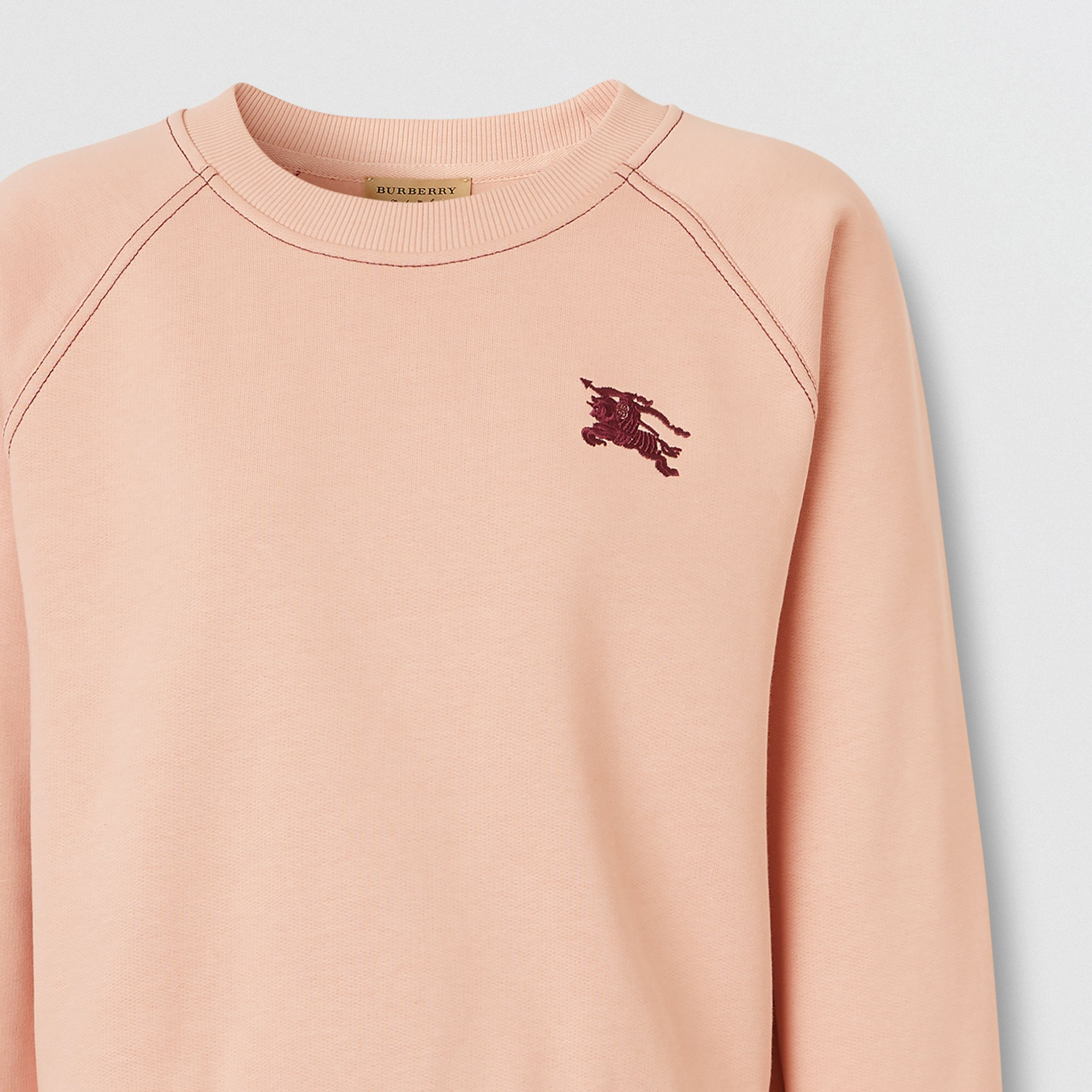Embroidered EKD Jersey Sweatshirt in Ash Rose - Women | Burberry - 2