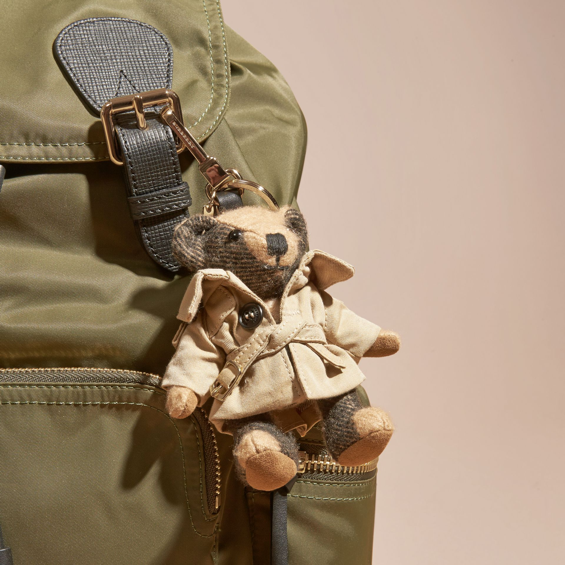 Camel Thomas Bear Charm in Trench Coat - gallery image 3