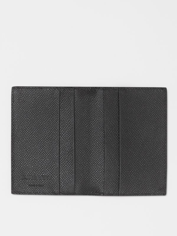 Grainy Leather Bifold Card Case in Black - Men | Burberry - cell image 2