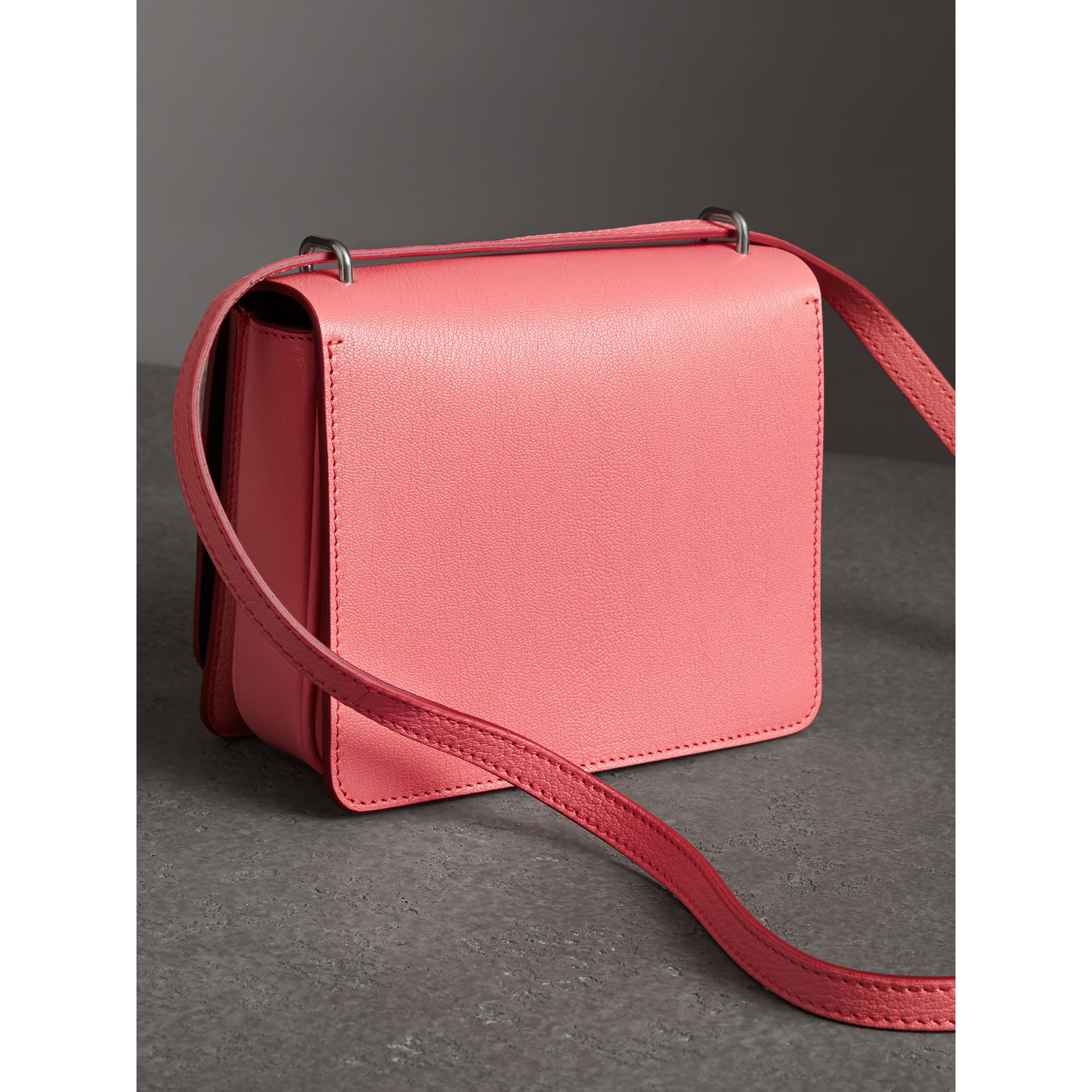 The Small Leather D-ring Bag in Bright Coral Pink - Women | Burberry Hong Kong - gallery image 2