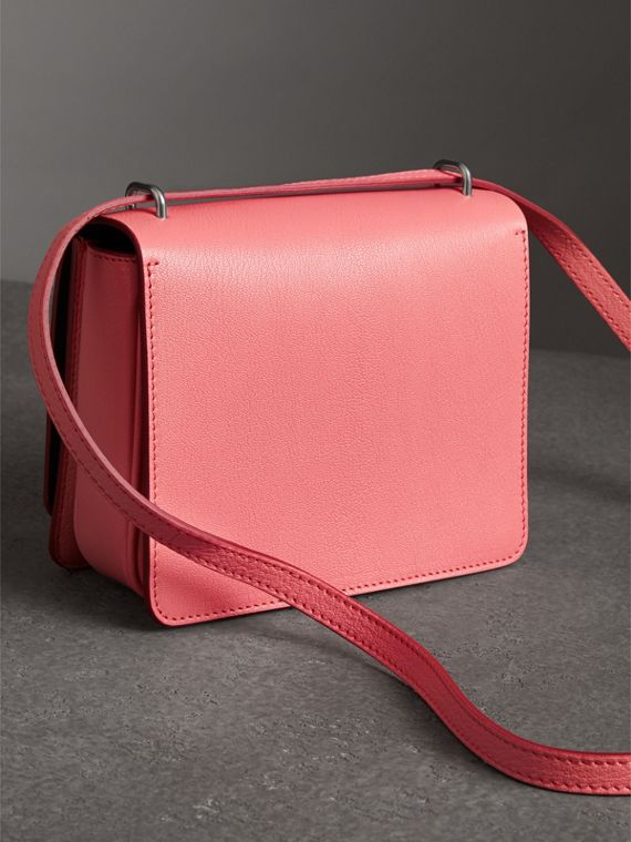 The Small Leather D-ring Bag in Bright Coral Pink - Women | Burberry - cell image 2