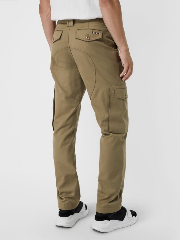 Technical Cotton Twill Cargo Trousers in Khaki - Men | Burberry - cell image 2