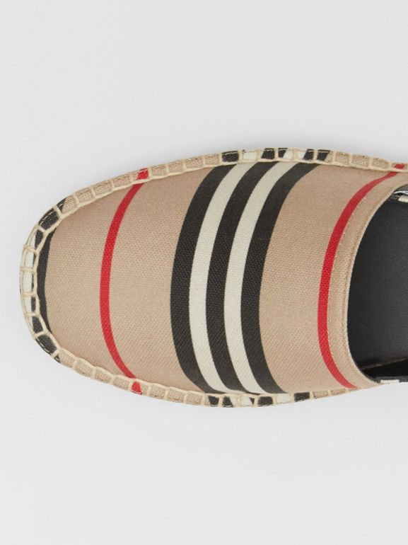 Icon Stripe Espadrilles in Archive Beige - Men | Burberry United Kingdom - cell image 1