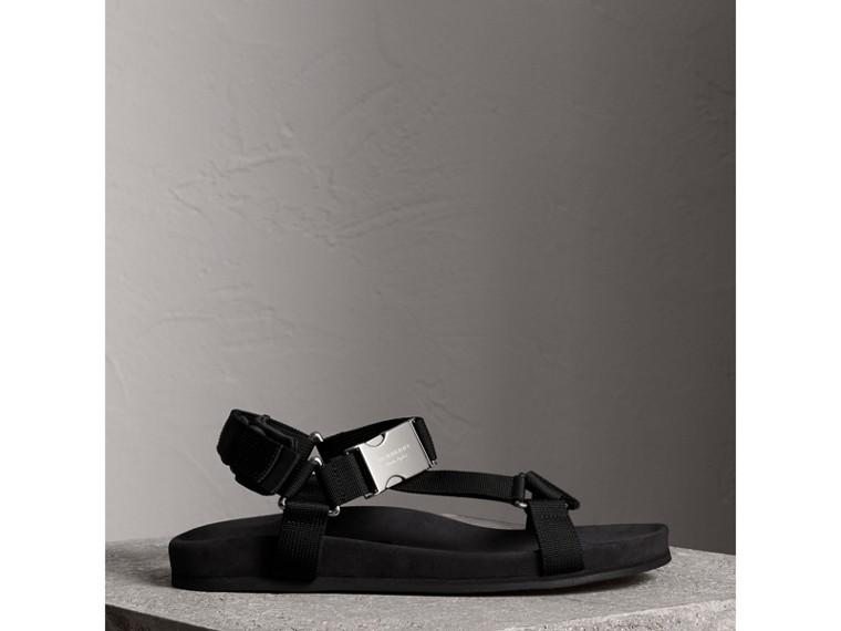 三點式繫帶防撕材質涼鞋 (黑色) - 男款 | Burberry - cell image 4