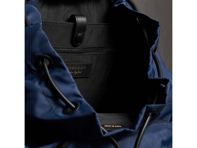 The Large Rucksack in Technical Nylon and Leather in Steel Blue - Men | Burberry - cell image 4