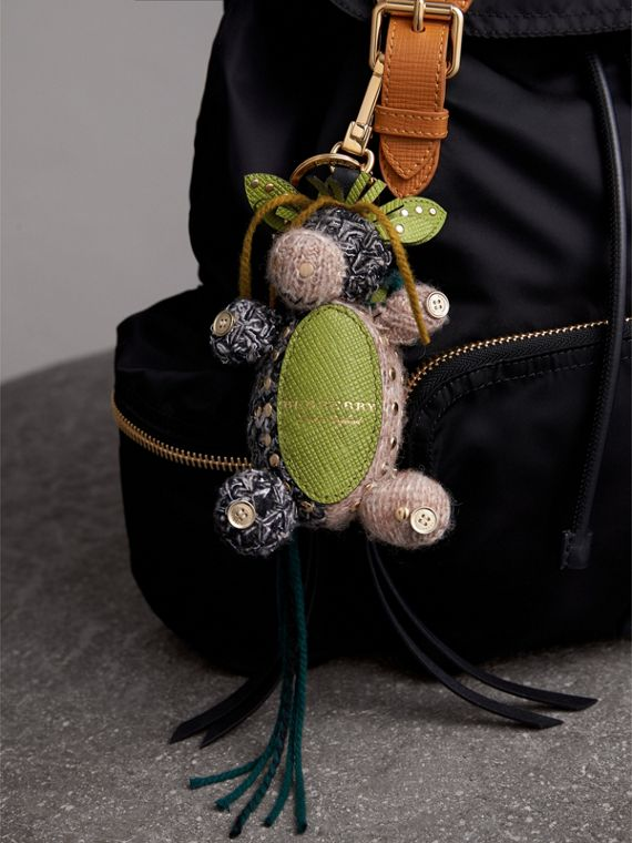 Mabel The Donkey Wool Charm in Sand Multicolour | Burberry Australia - cell image 2