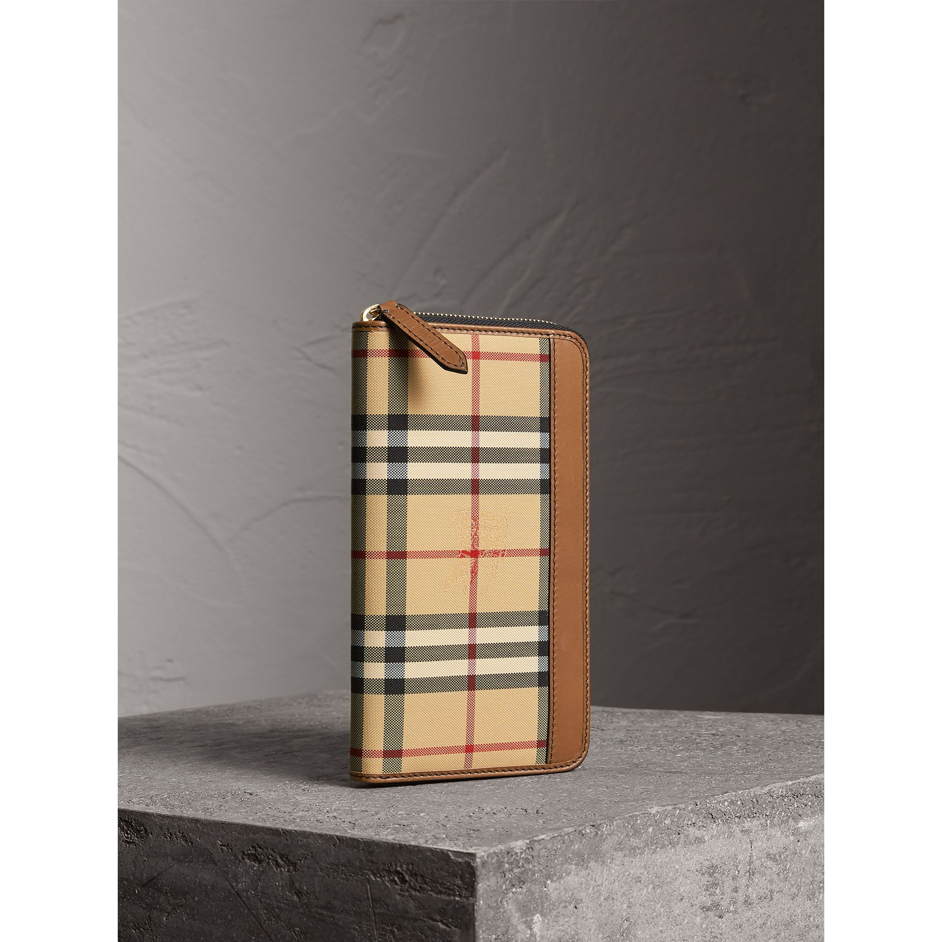Horseferry Check Ziparound Wallet in Tan - Men | Burberry Singapore - gallery image 1