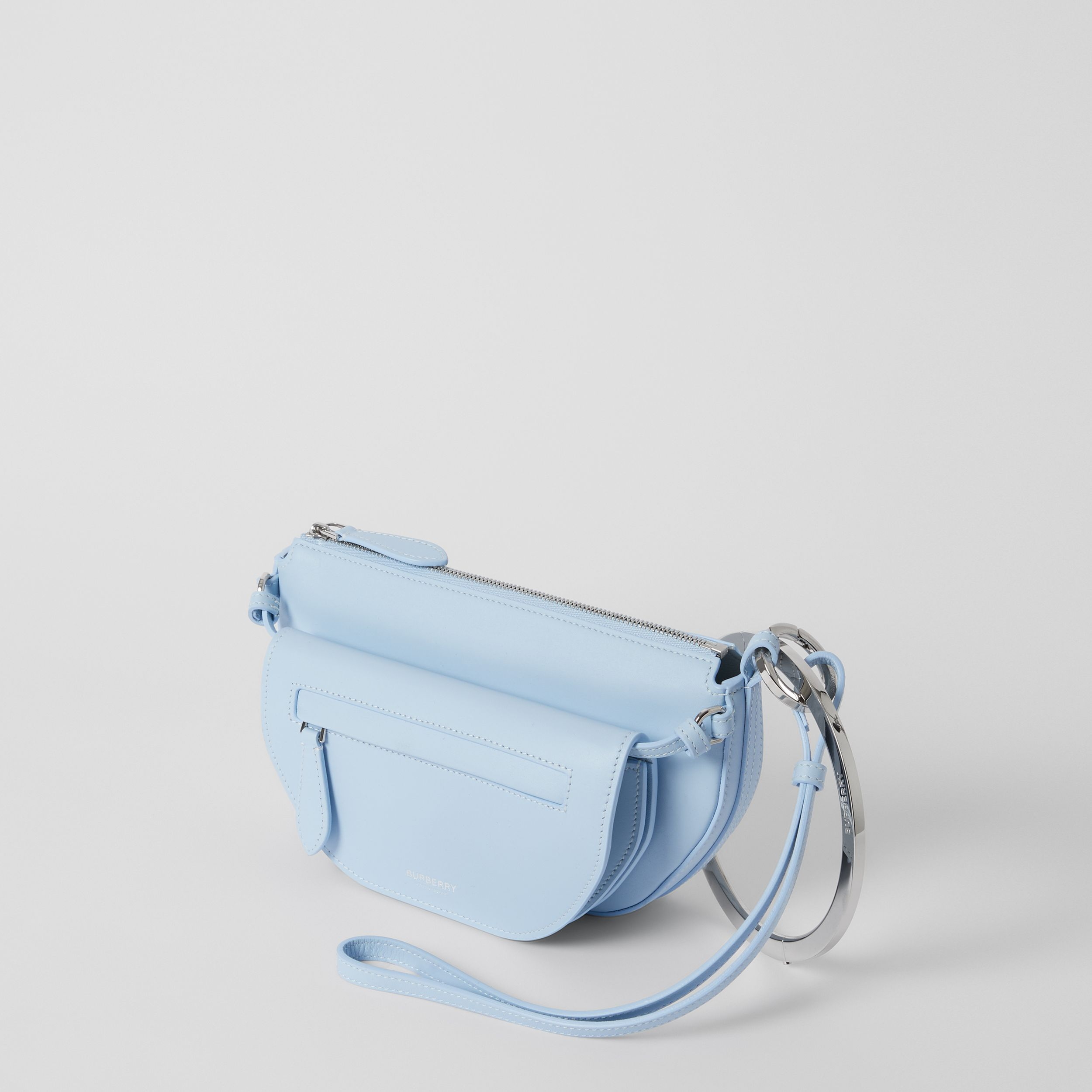 Mini Leather Double Olympia Bag in Pale Blue - Women | Burberry - 4