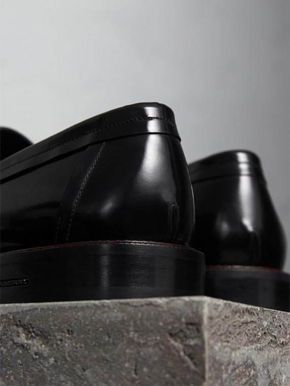 Mocassins de couro em dois tons (Preto) - Homens | Burberry - cell image 3