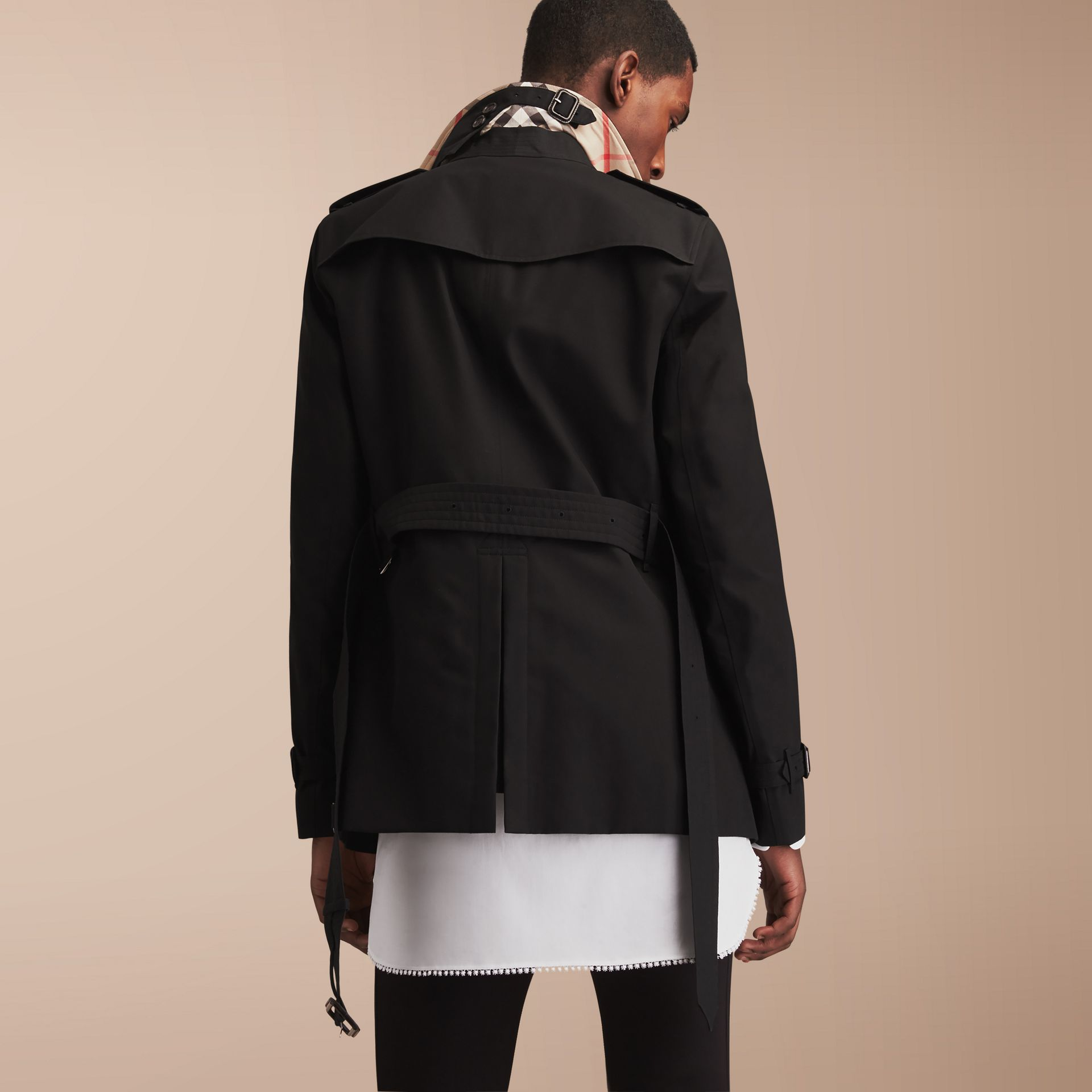 The Chelsea – Short Heritage Trench Coat in Black - gallery image 3