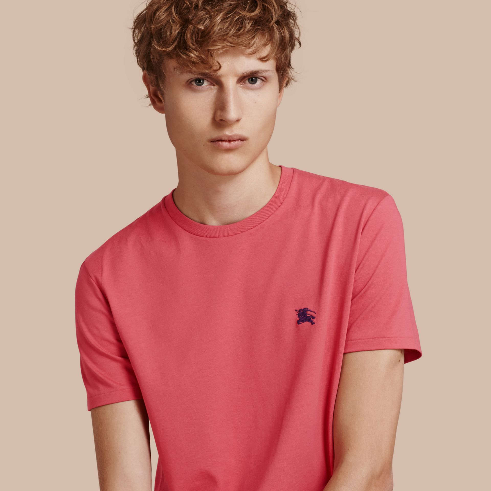 Cotton Jersey T-shirt Dusky Pink - gallery image 1