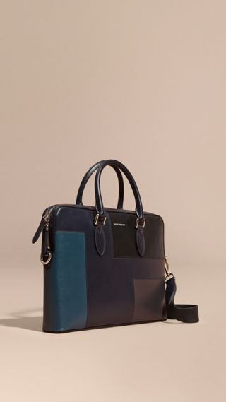 The Slim Barrow Bag in Patchwork London Leather