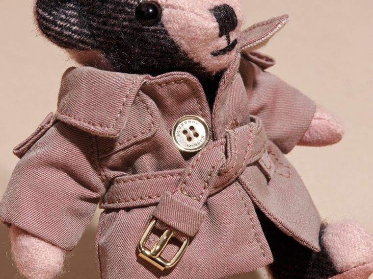 Thomas Bear Charm with Tropical Gabardine Trench Coat in Ash Rose - cell image 1