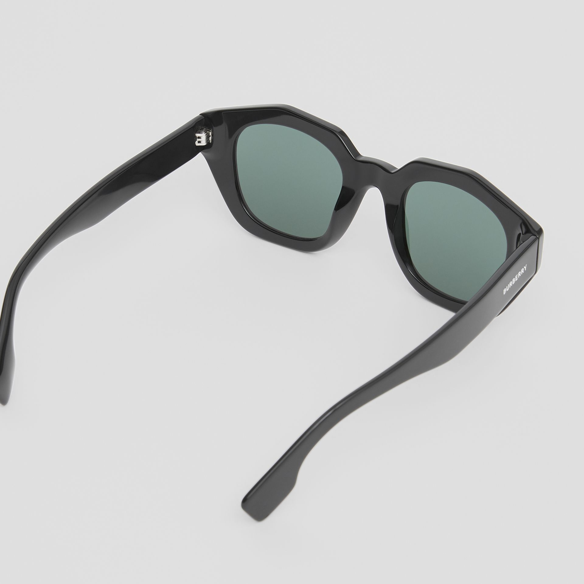 Geometric Frame Sunglasses in Black - Women | Burberry United Kingdom - gallery image 3