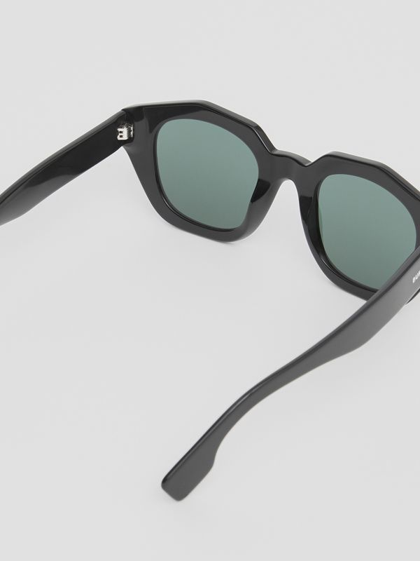 Geometric Frame Sunglasses in Black - Women | Burberry Singapore - cell image 3