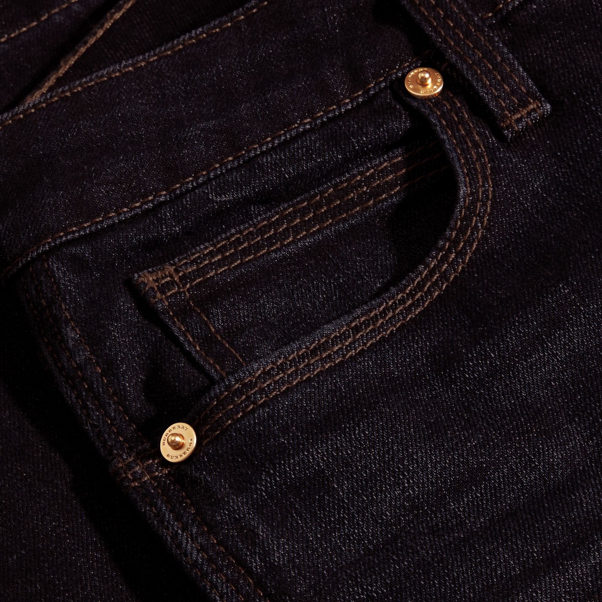 Mid indigo Flared Stretch Denim Jeans - gallery image 2