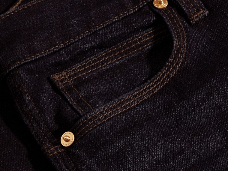 Mid indigo Flared Stretch Denim Jeans - cell image 1