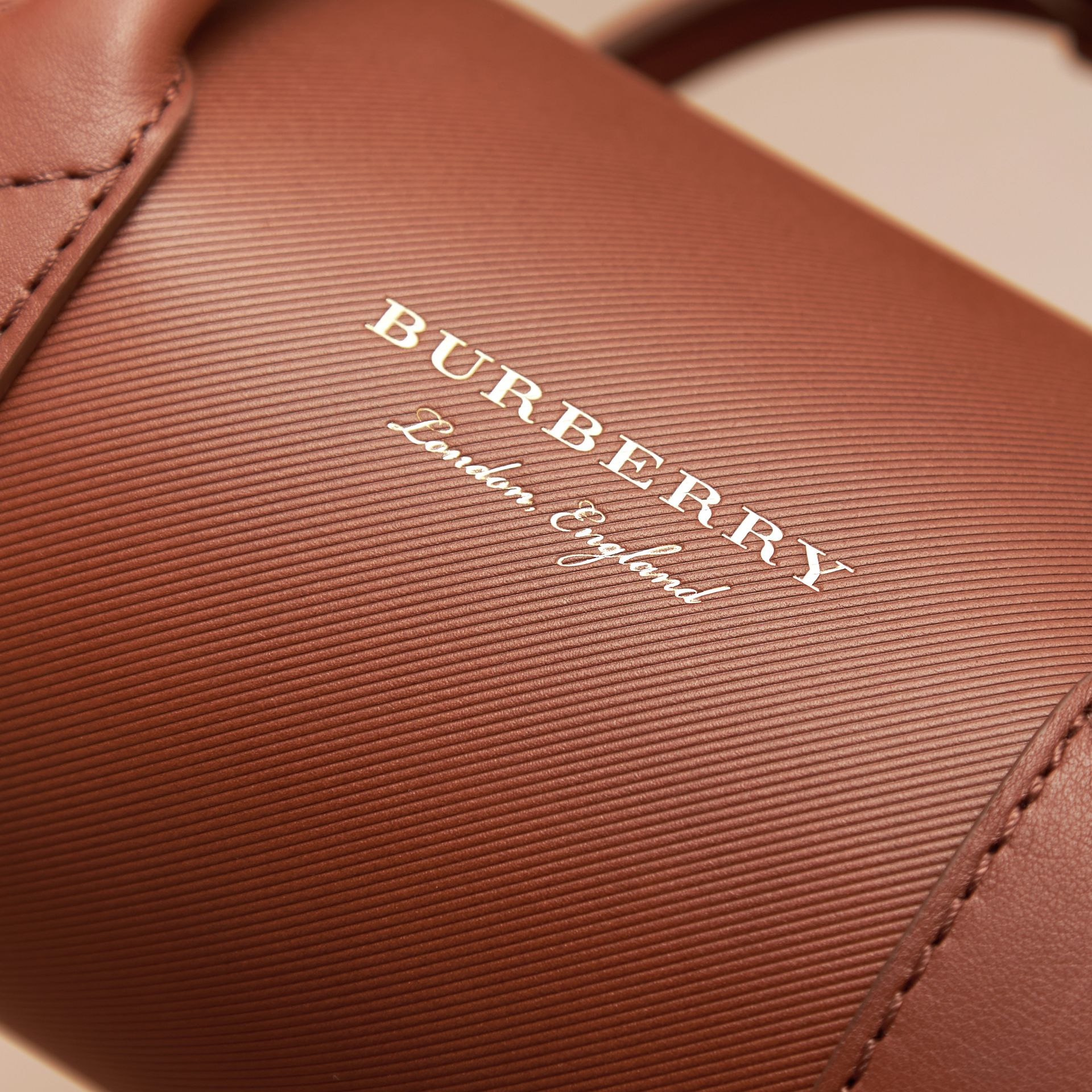 The Small DK88 Barrel Bag in Tan - Women | Burberry United States - gallery image 4