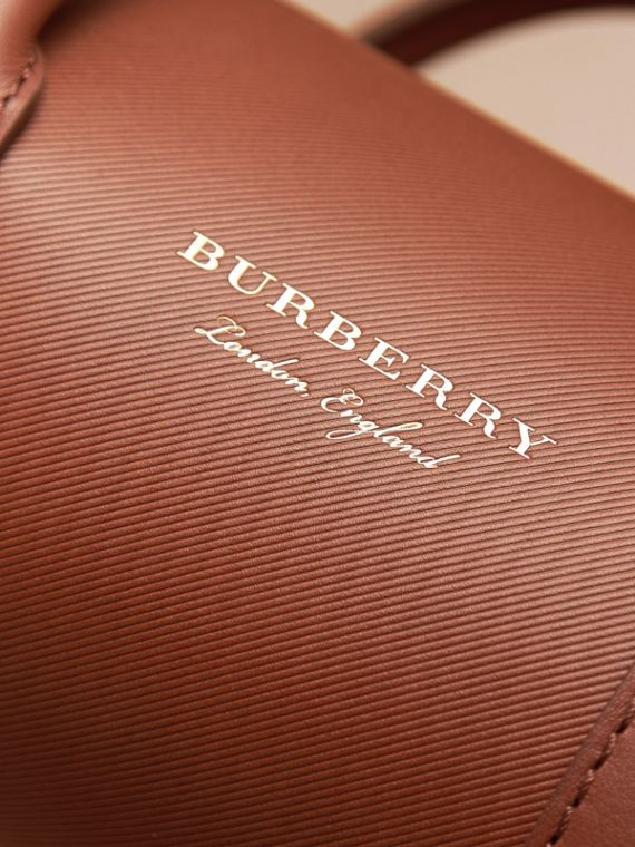 The Small DK88 Barrel Bag in Tan - Women | Burberry - cell image 3