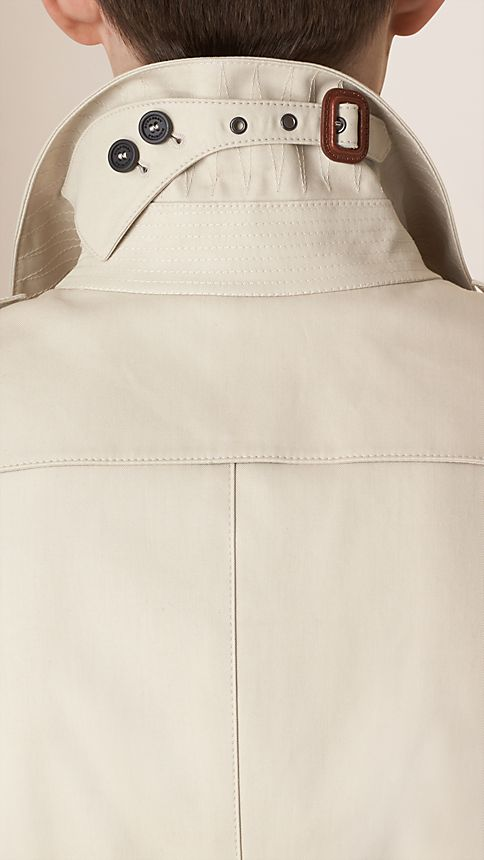 Stone Cotton Gabardine Trench Coat - Image 5
