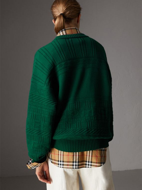 Reissued Wool Sweater in Dark Green - Women | Burberry - cell image 2