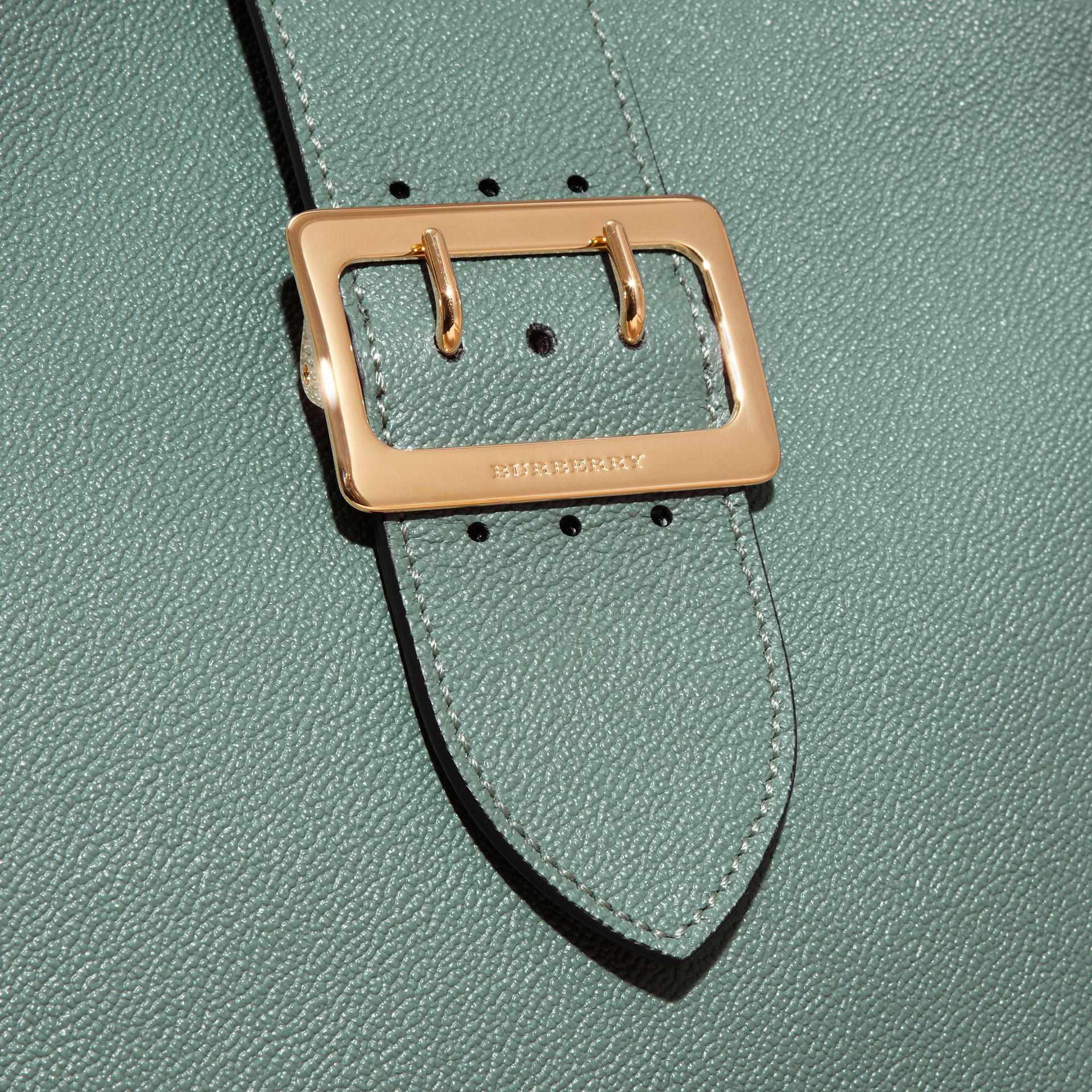 The Medium Buckle Tote in Grainy Leather in Eucalyptus Green - gallery image 2