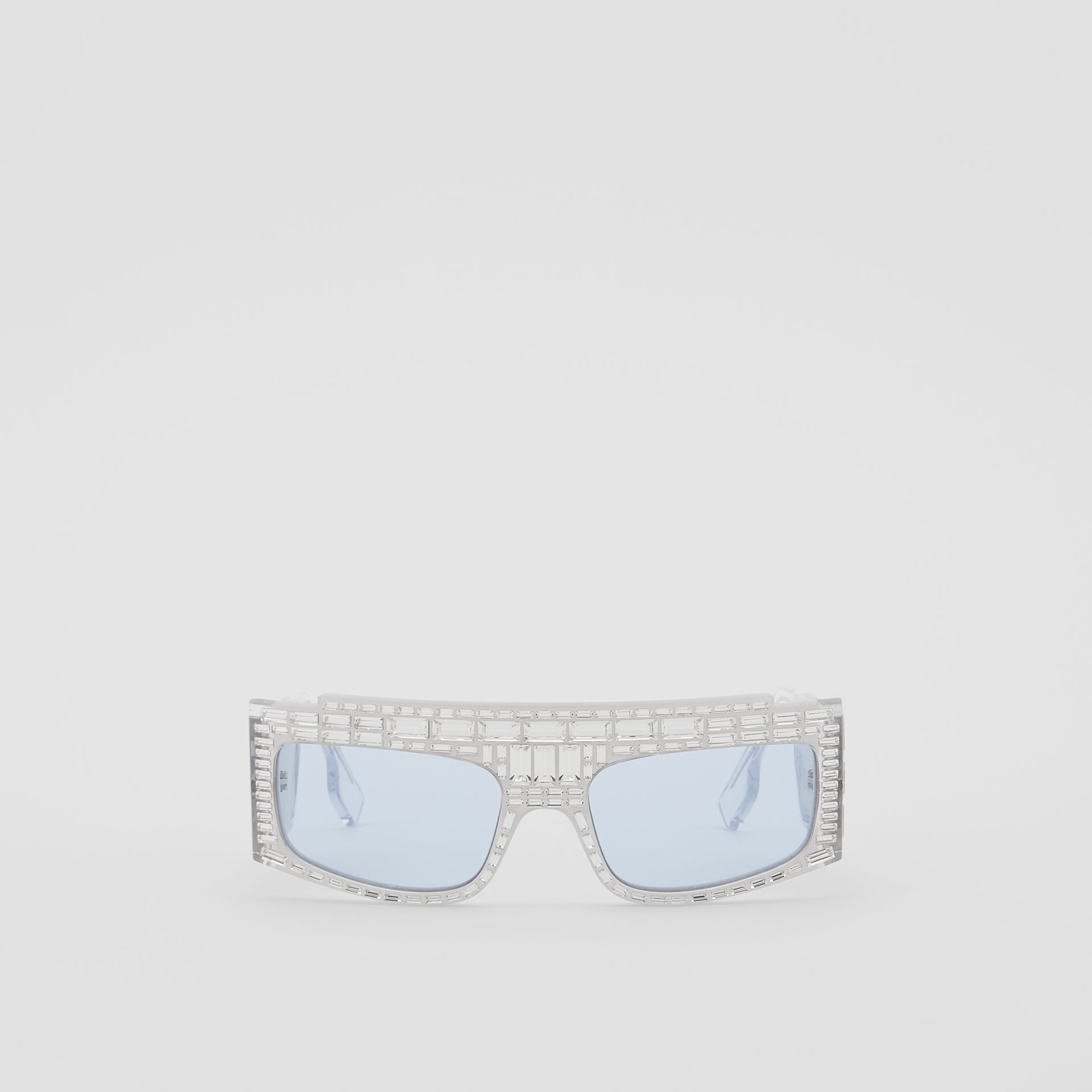 Crystal Rectangular Frame Sunglasses - Women | Burberry - gallery image 0