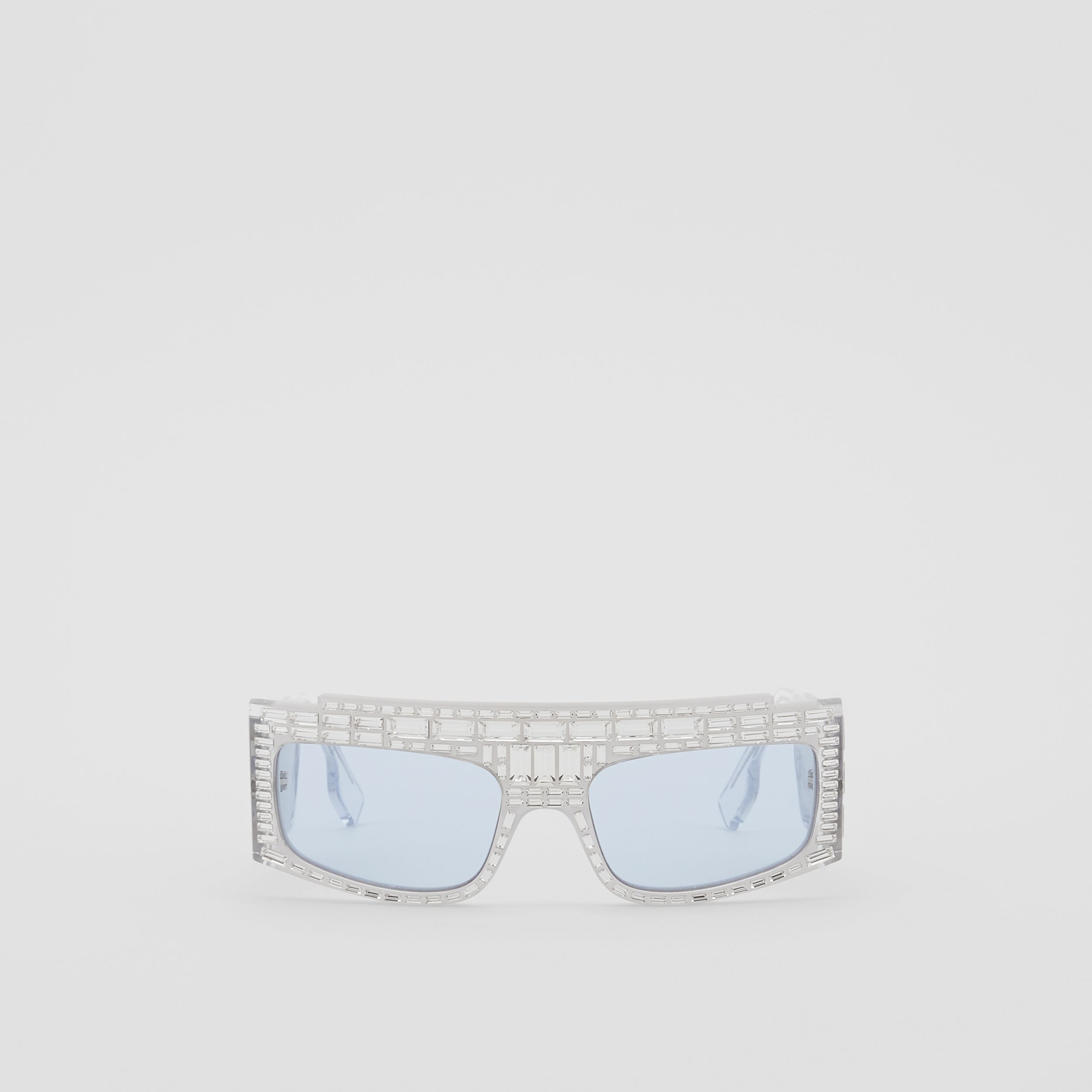 Crystal Rectangular Frame Sunglasses - Women | Burberry - 1