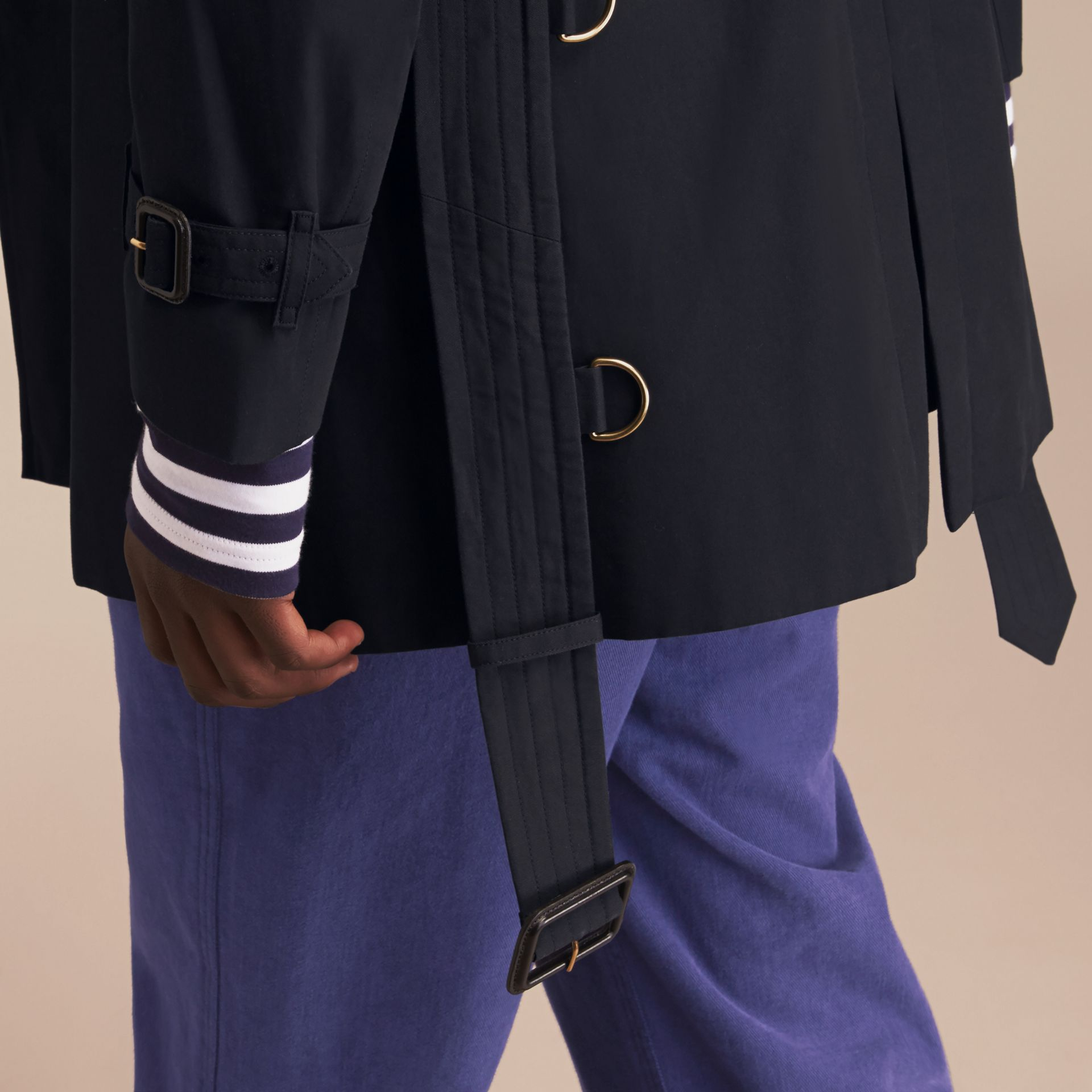 Navy The Chelsea – Mid-length Heritage Trench Coat Navy - gallery image 7