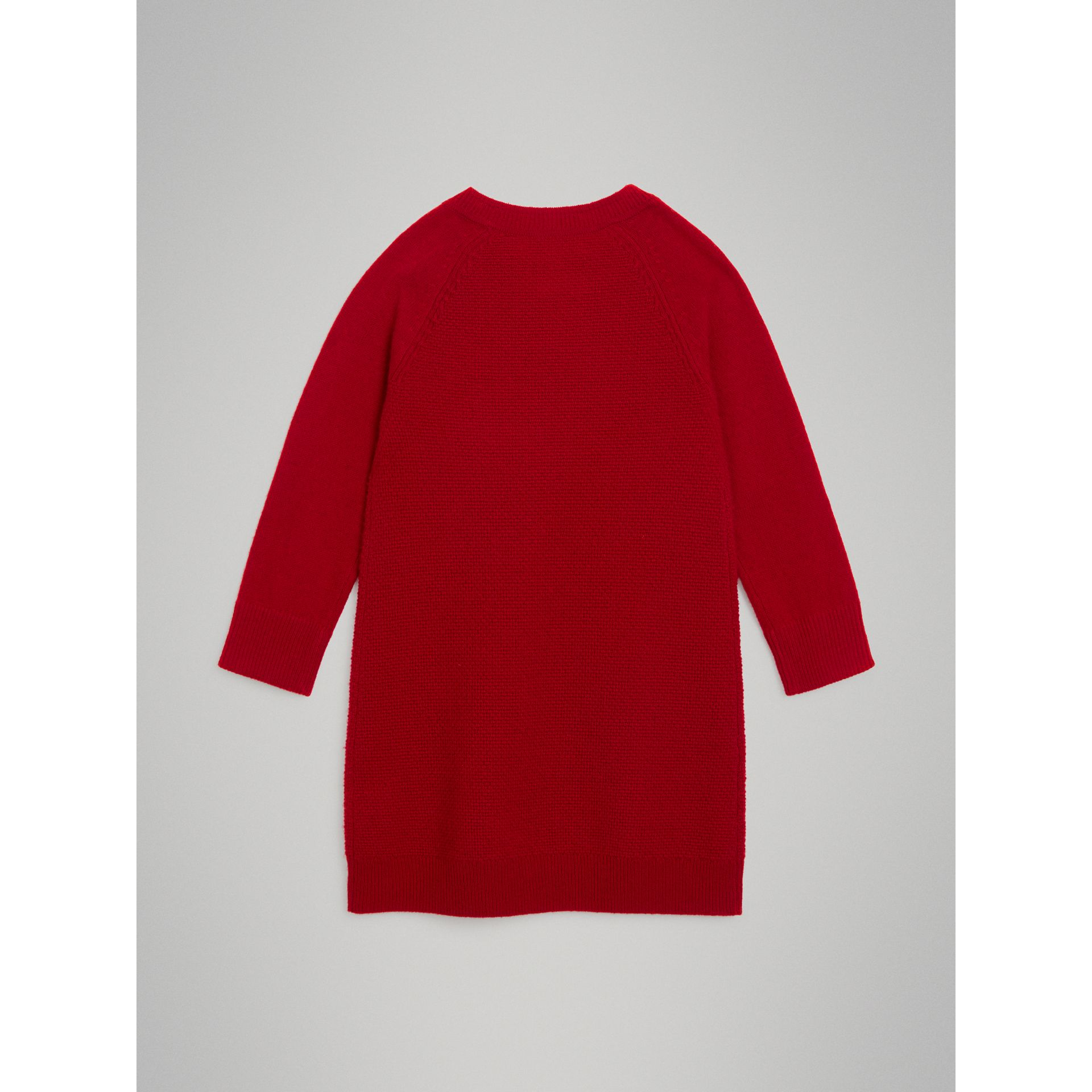 Cashmere Sweater Dress in Parade Red - Girl | Burberry United Kingdom - gallery image 3