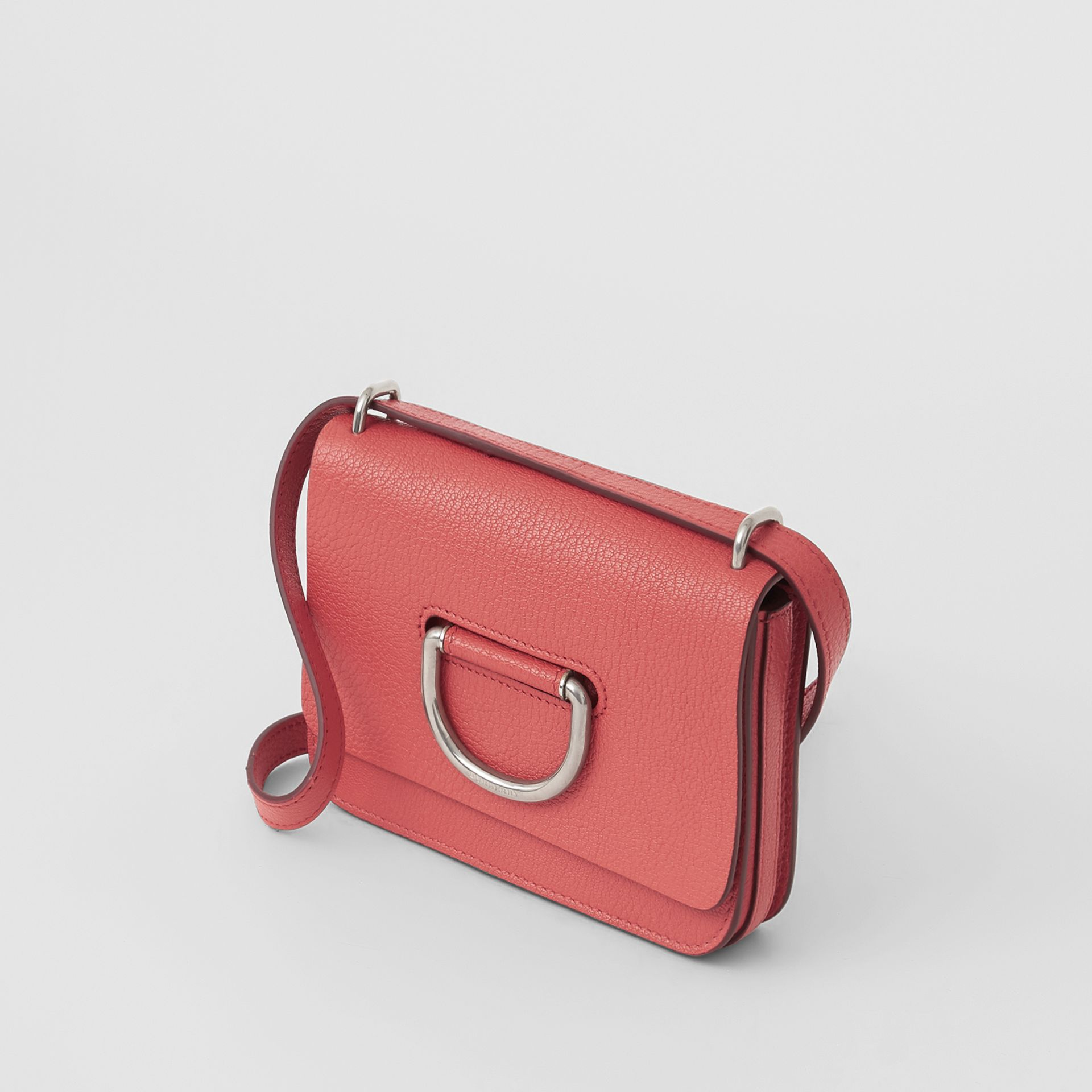 The Mini Leather D-ring Bag in Bright Coral Pink - Women | Burberry - gallery image 4