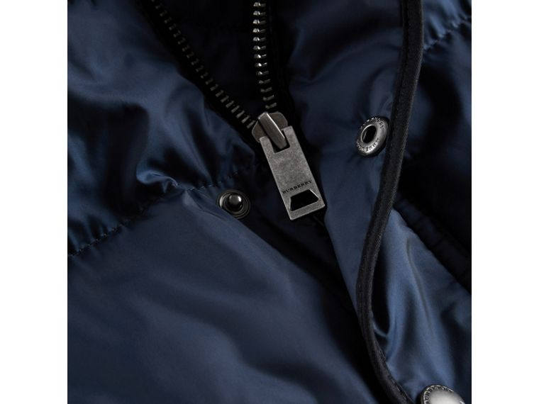 Down-filled Hooded Gilet in Ink Blue - Boy | Burberry - cell image 1