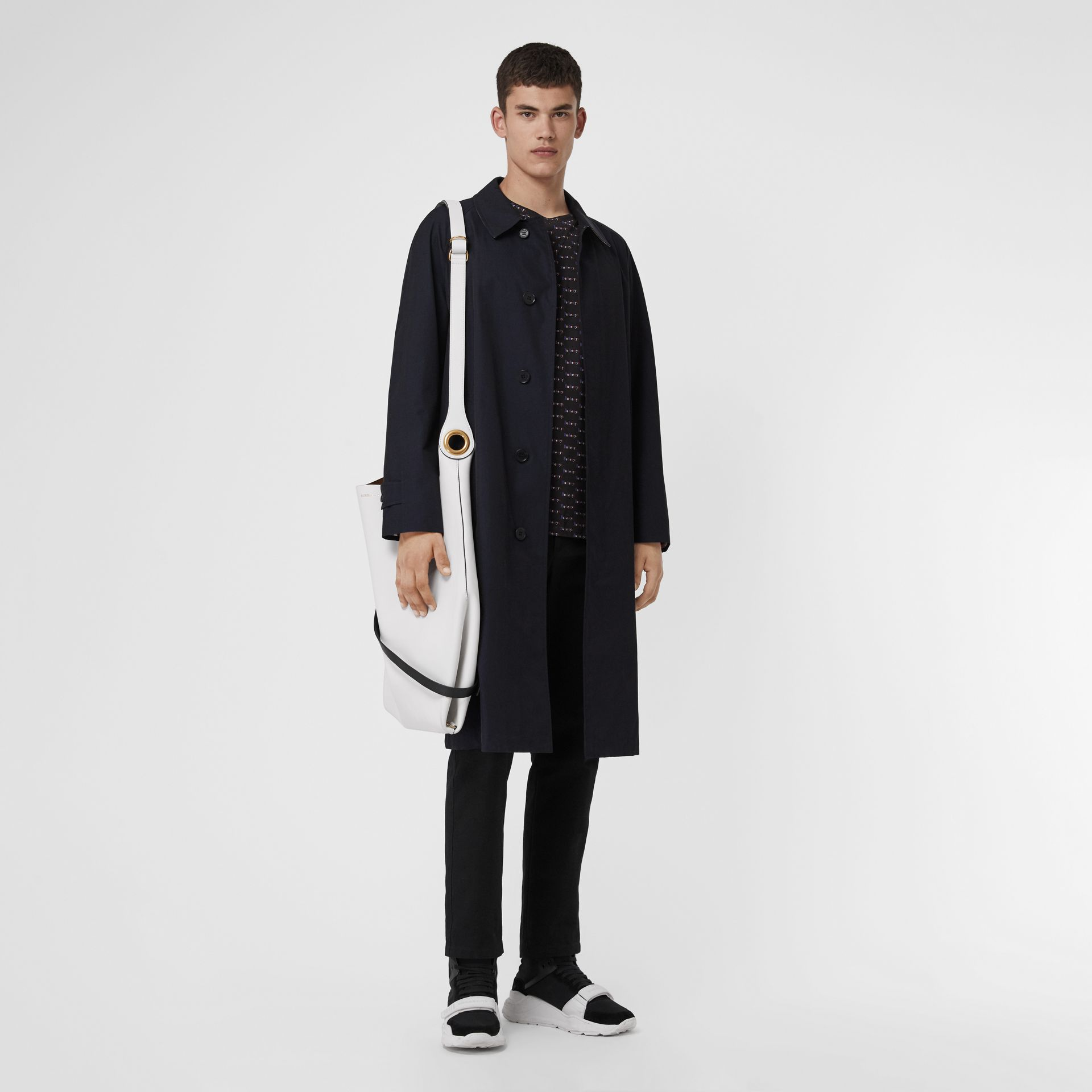 The Brighton Car Coat in Blue Carbon - Men | Burberry - gallery image 0
