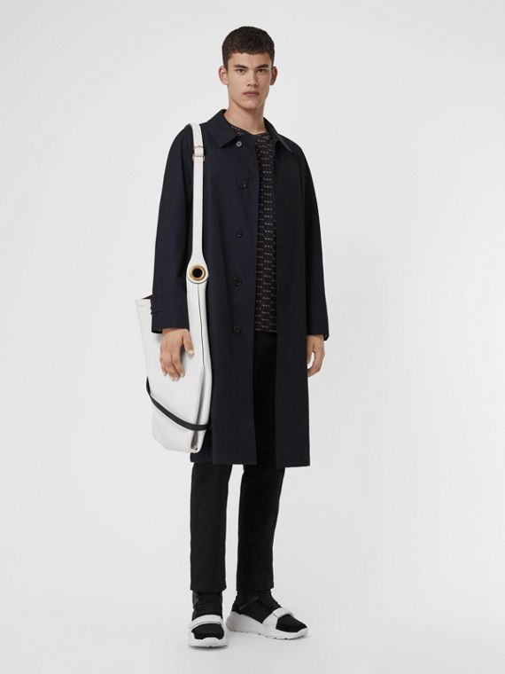 The Brighton Car Coat in Blue Carbon