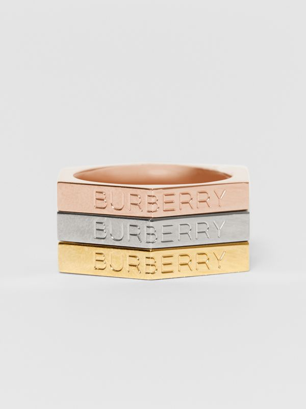 Rose Gold, Palladium and Gold-plated Nut Rings in Light - Women | Burberry - cell image 2