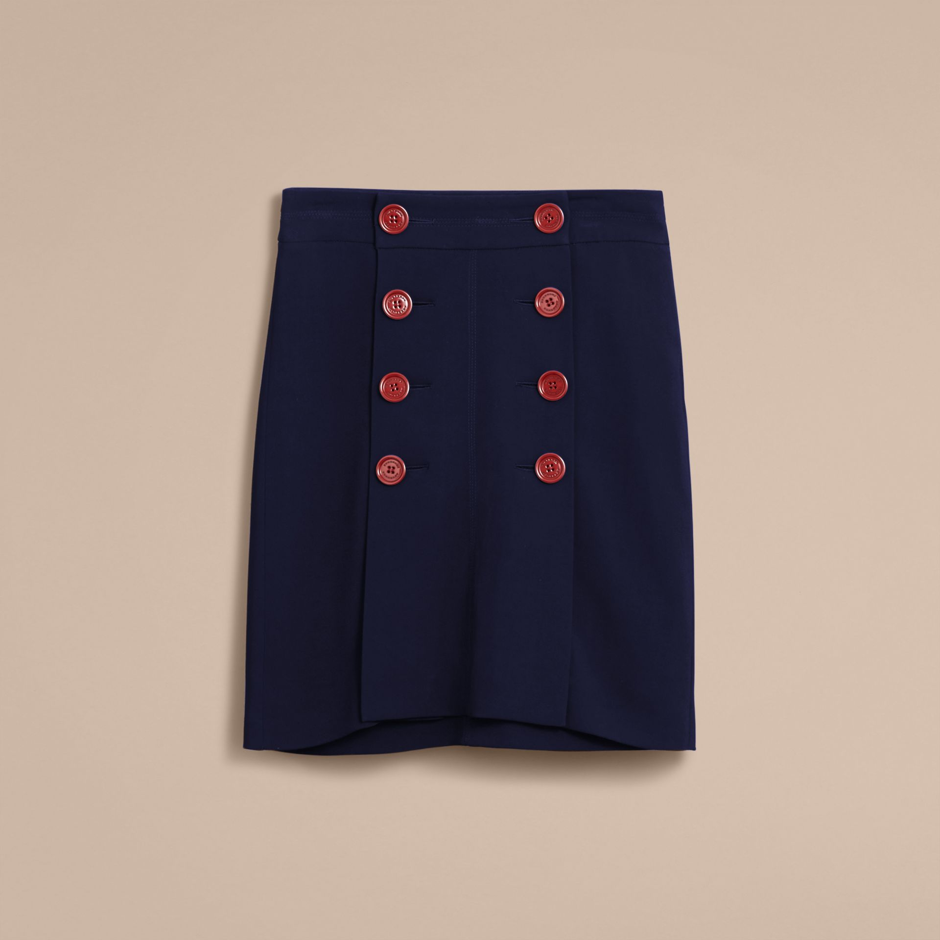 Resin Button Double-breasted Tailored Skirt - gallery image 4