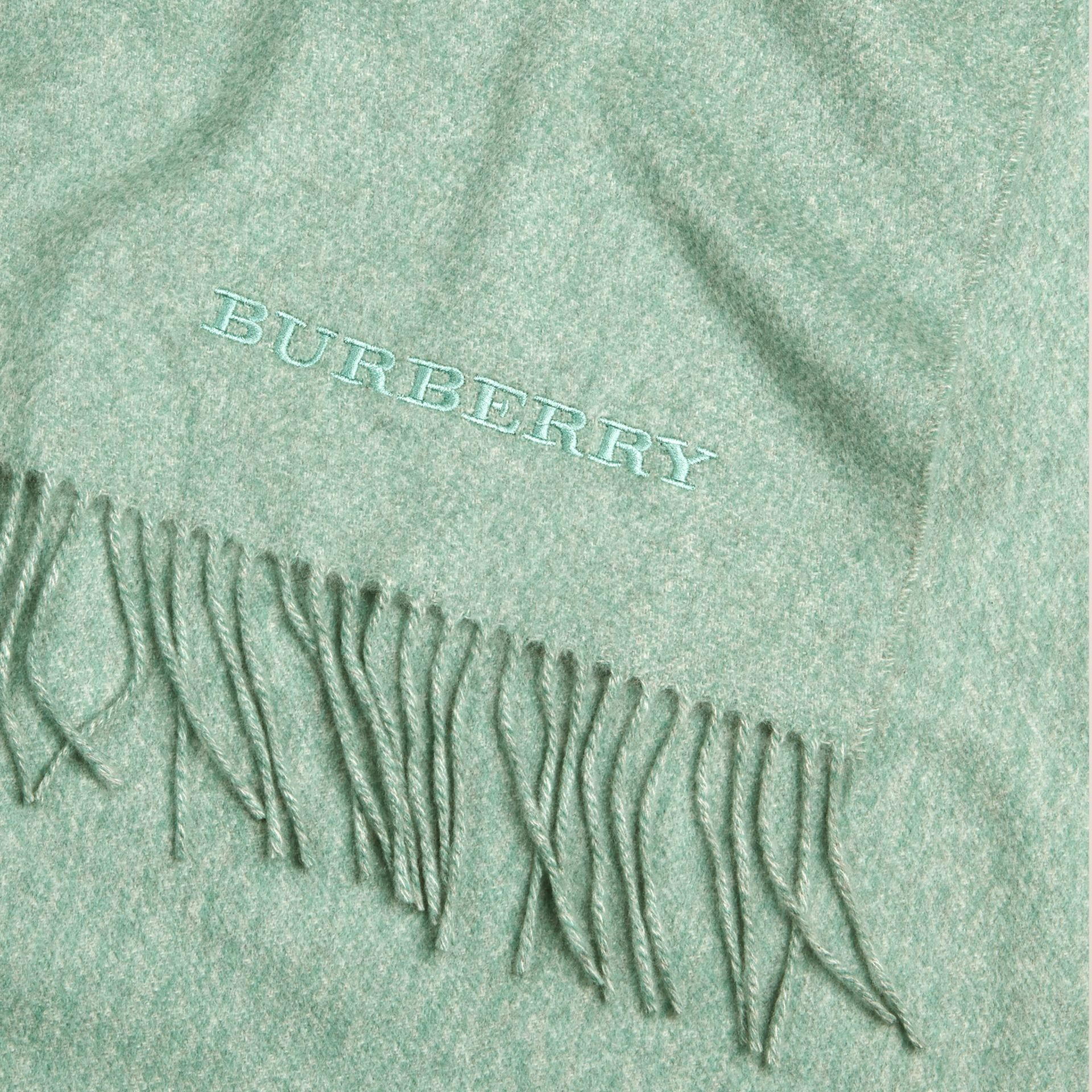 Dusty mint Cashmere Blanket Dusty Mint - gallery image 2