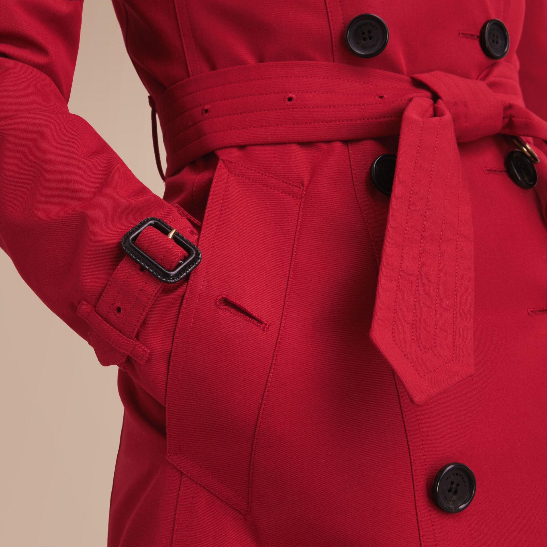 The Chelsea – Long Heritage Trench Coat in Parade Red - gallery image 6