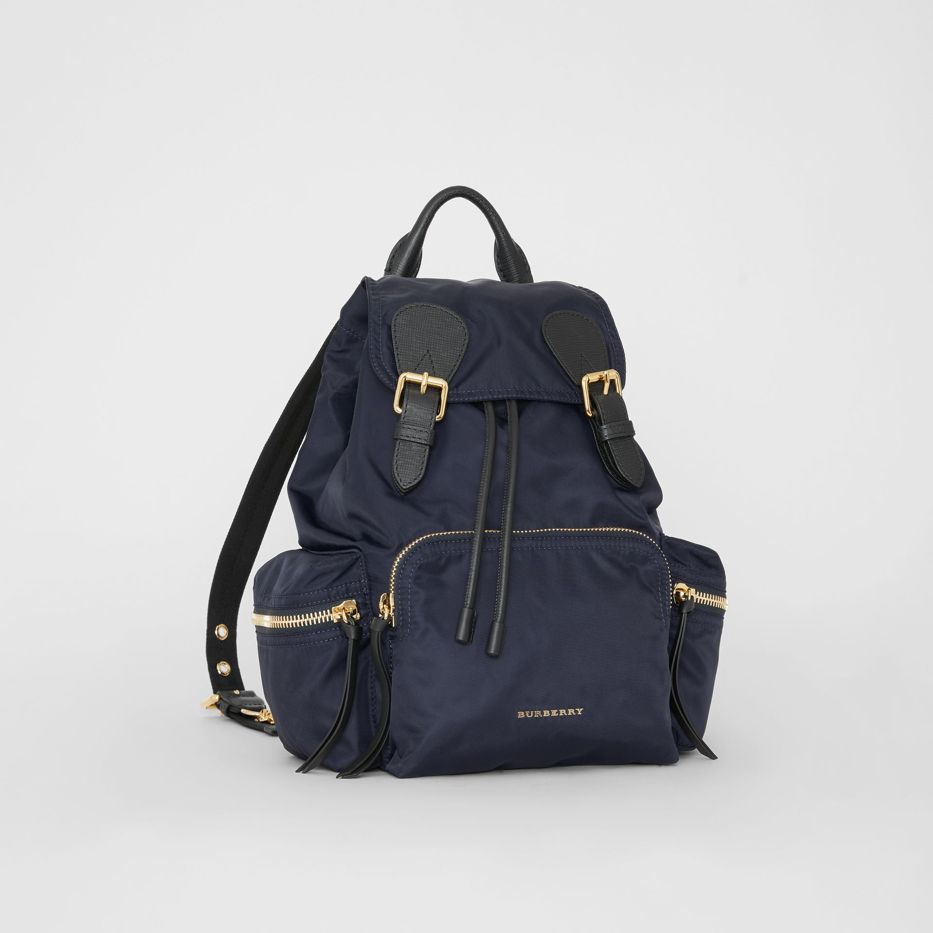 Zaino The Rucksack medio in nylon tecnico e pelle (Blu Inchiostro) - Donna | Burberry - immagine della galleria 10