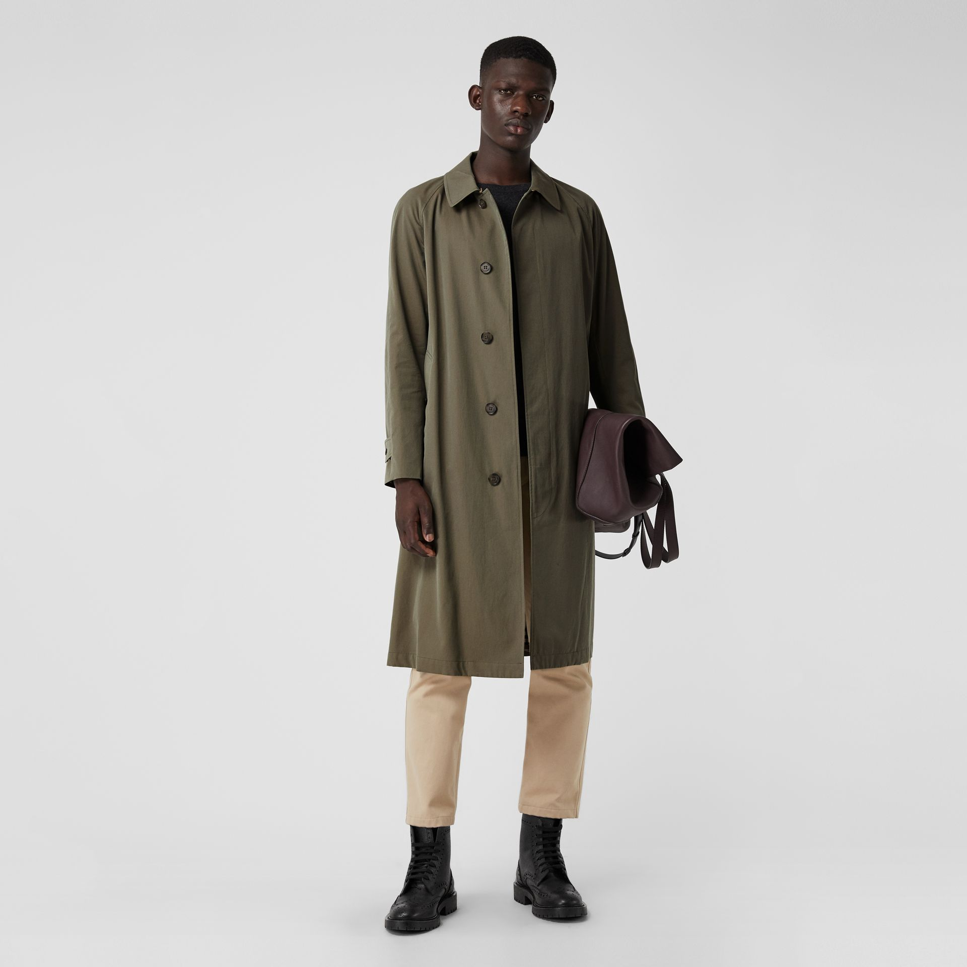 The Brighton Car Coat in Chalk Green - Men | Burberry United Kingdom - gallery image 0