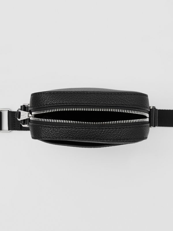 Logo Graphic Leather Crossbody Bag in Black - Men | Burberry - cell image 3